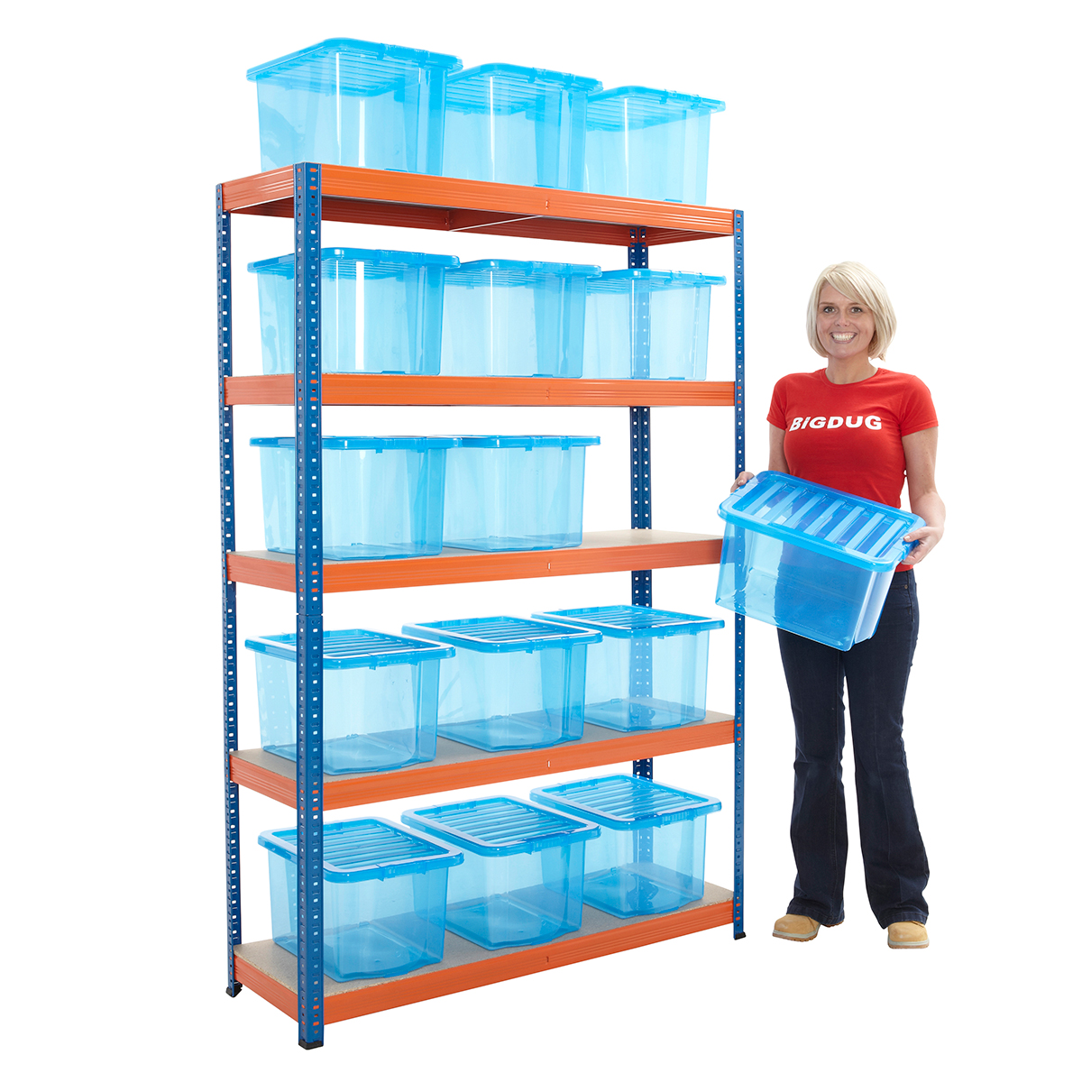 Garage Storage Boxes Boltless Garage Shelving Racking With 15 Storage Boxes