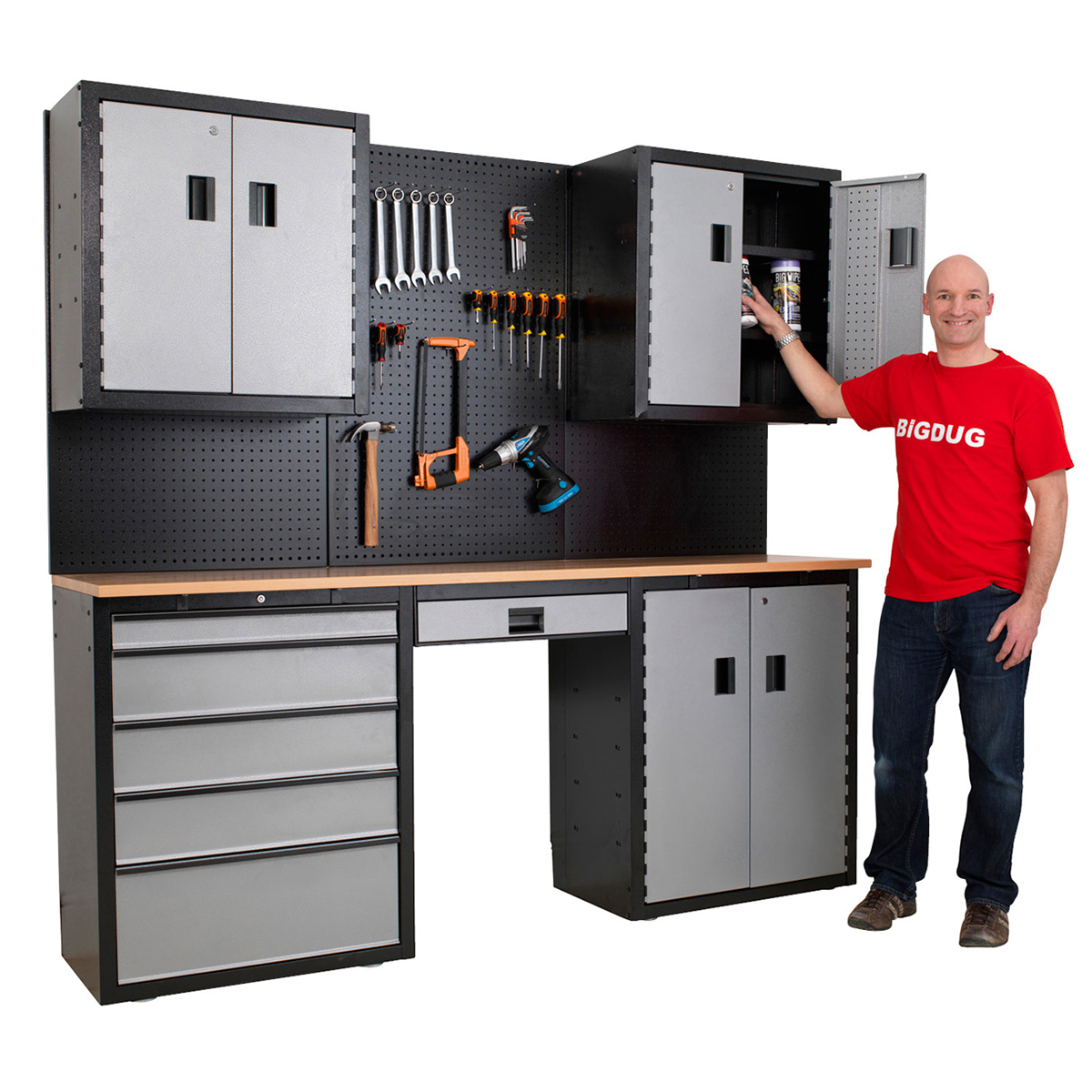 Garage Workbench And Storage Garage Storage Kit System Cupboard Workbench Drawers Tools