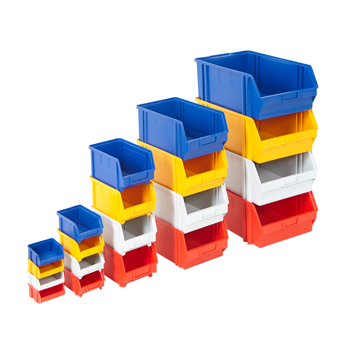 Garage Storage Boxes Plastic Parts Bins Assorted Colours Storage Garage Boxes