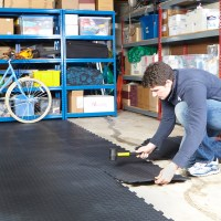 Garage Floor Tiles Interlocking Vinyl Flooring Heavy Duty ...