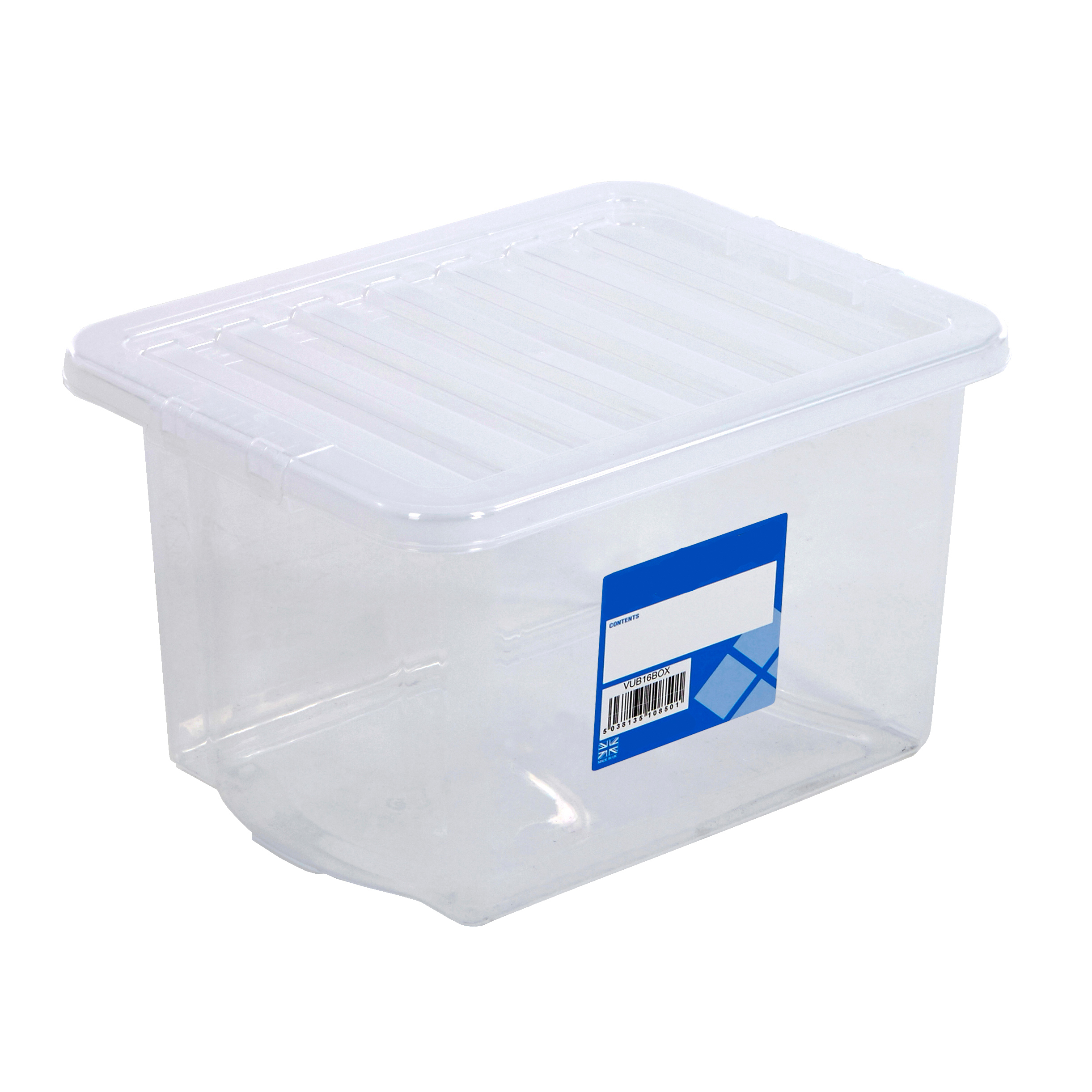 Plastic Containers With Lids 24 Litre Storage Boxes Clear Plastic Containers With Lids