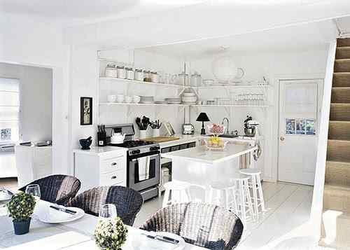 Cocinas con estantes abiertos