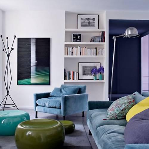 Departamentos peque os 3 ambientes de 50 metros en par s for Decoracion de living en departamentos pequenos