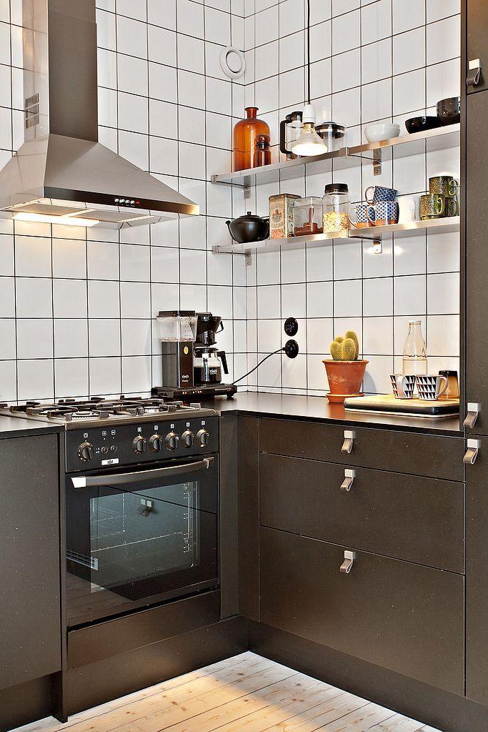 Departamentos peque os 35 metros bien decorados for Cocina americana para departamento pequeno