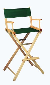 Gold Medal 30 inch Bar Height CONTEMPORARY Directors Chair