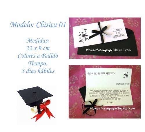 Invitaciones tarjetas recuerdos souvenirs licenciatura graduacion