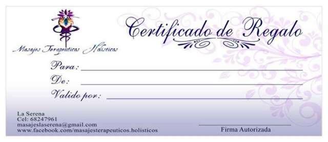 Fotos de Certificado de regalo _ regala un exquisito masaje en
