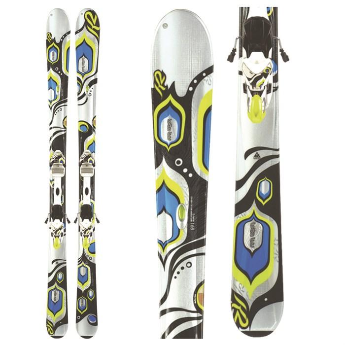 K2 Lotta Luv Skis + Marker 110 TC Bindings - Women\u0027s 2010 evo