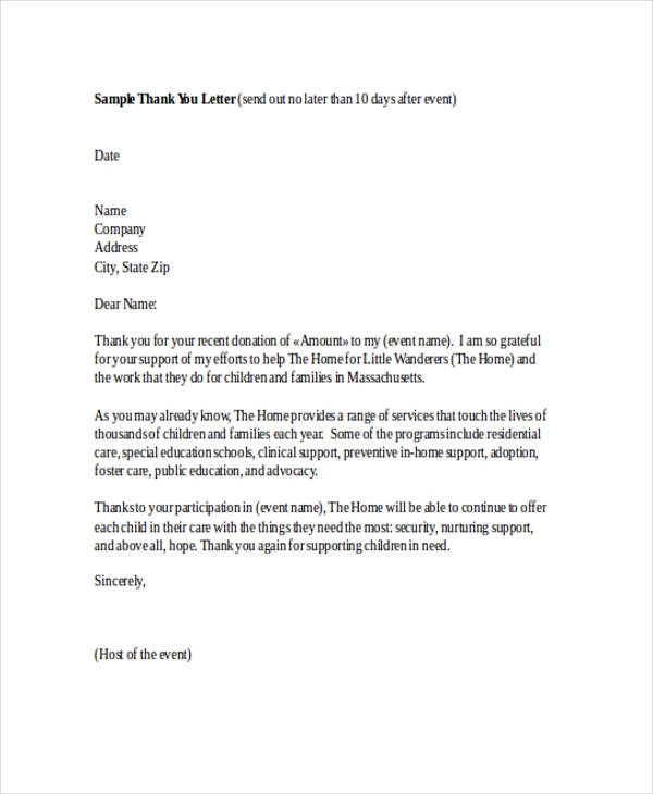 69+ Thank-You Letter Examples - thank you for your support letter