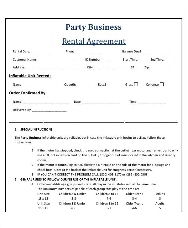 53+ Business Agreement Examples  Samples - business rental agreement template