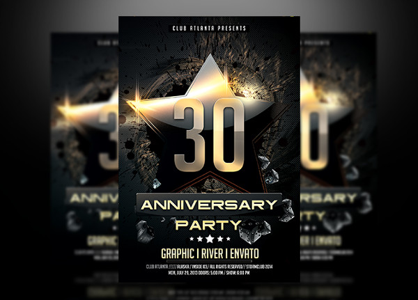 95+ Flyer Designs  Examples - PSD, AI, EPS Vector - anniversary flyer