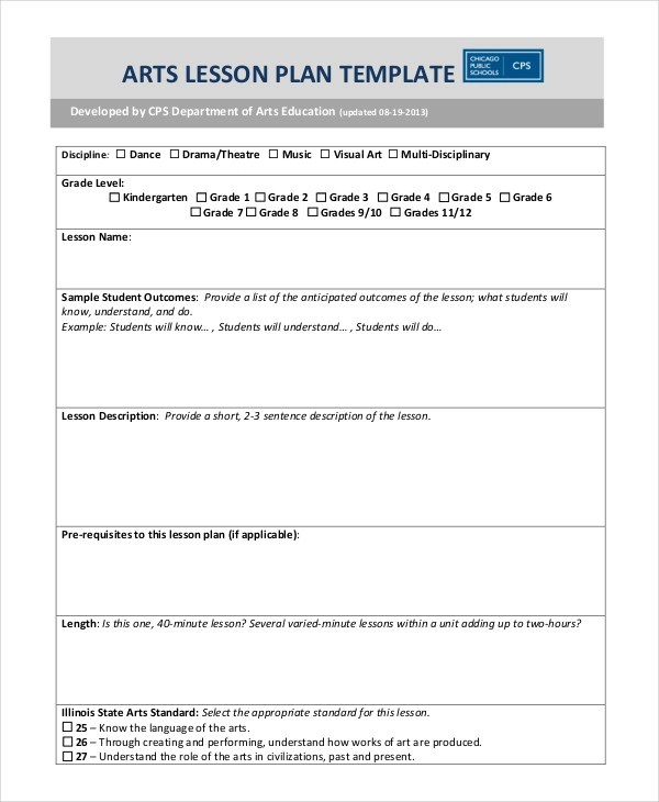 sample elementary lesson plan template hitecauto - sample music lesson plan template