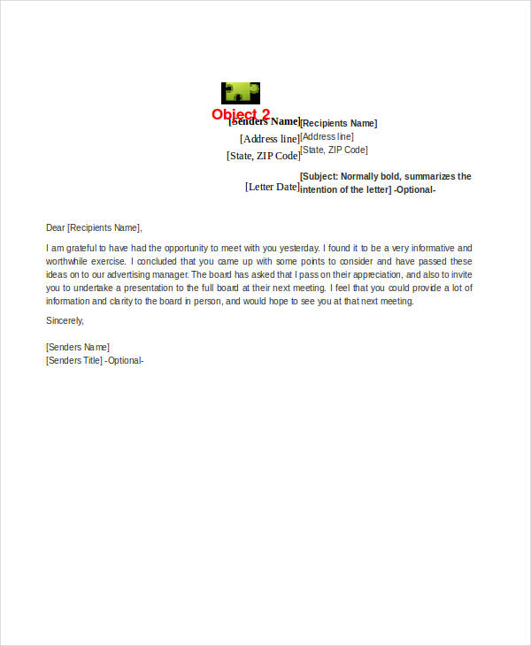 Business Appointment Letter - Design Templates