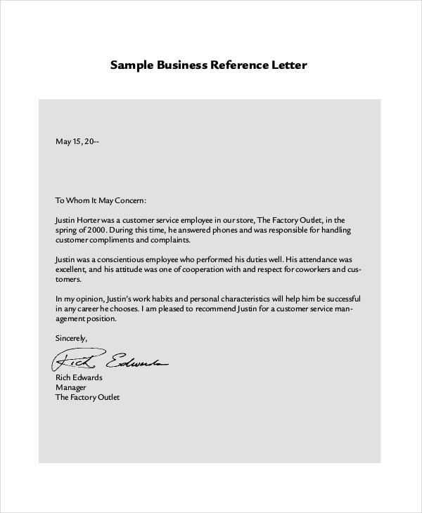 Recommendation Letter For Customer Service Image collections