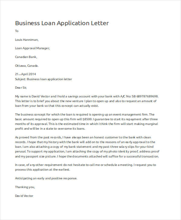 46+ Application Letter Examples  Samples - PDF, DOC - application letter sample