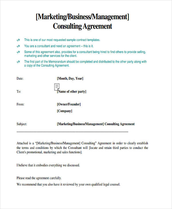 Business Consultant Agreement Agreements Consulting Cms - consulting retainer agreement