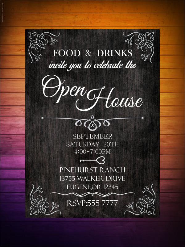 corporate open house invitation