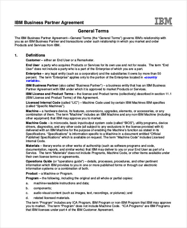 53+ Business Agreement Examples  Samples