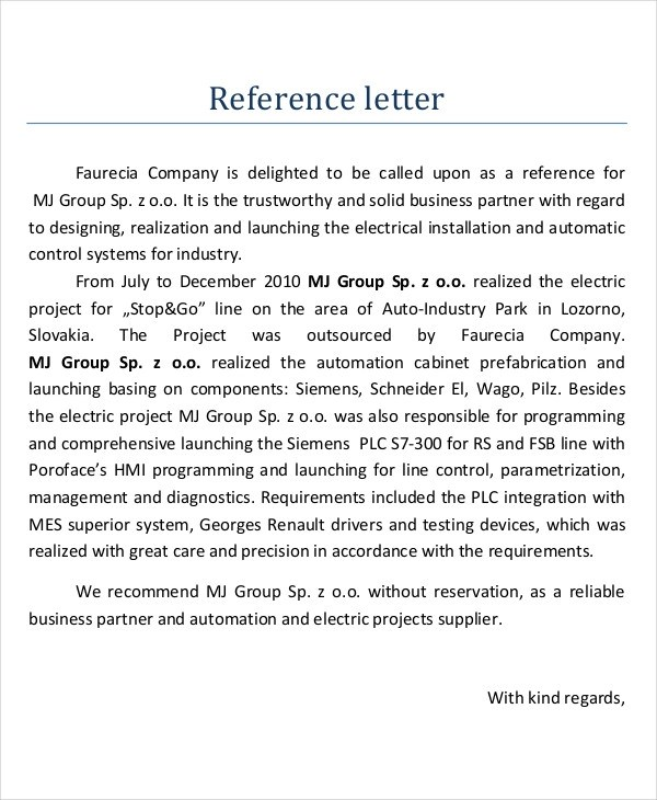 17+ Business Reference Letter Examples - PDF, DOC