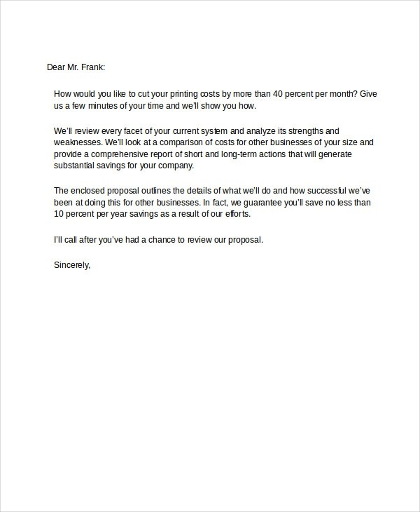 48+ Examples of Formal Letters - formal proposal example