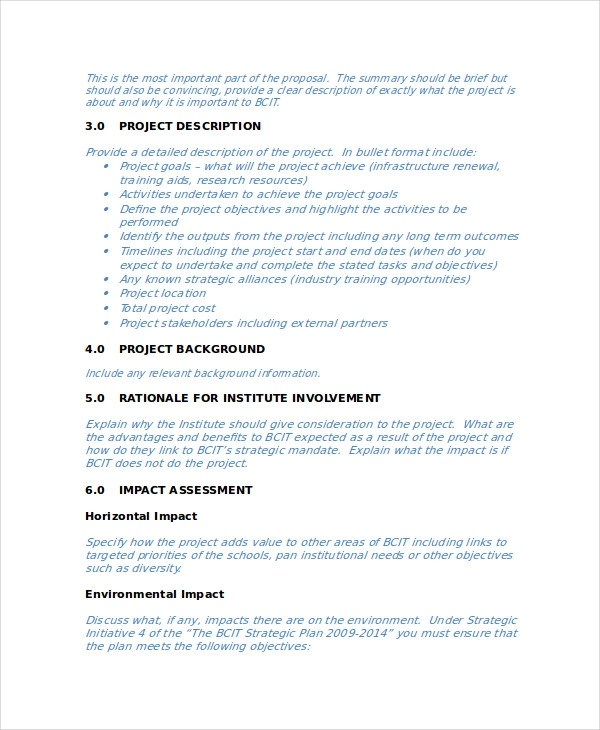 40+ Project Proposal Examples - business project proposal template