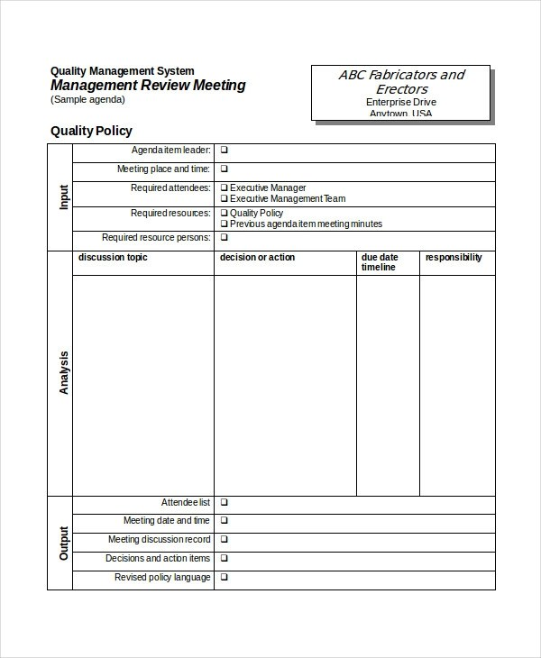 54+ Meeting Agenda Examples - management list sample