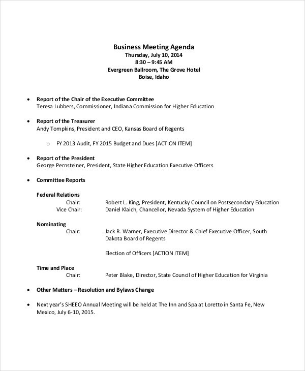54+ Meeting Agenda Examples - Sample Sales Meeting Agenda