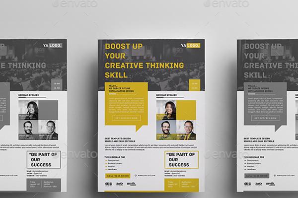 42+ Event Flyer Designs  Examples - PSD, AI, EPS Vector - seminar flyer