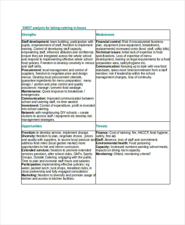 33+ SWOT Analysis Examples  Samples