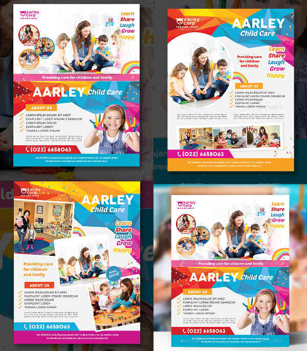 95+ Flyer Designs \ Examples - PSD, AI, EPS Vector - daycare flyer