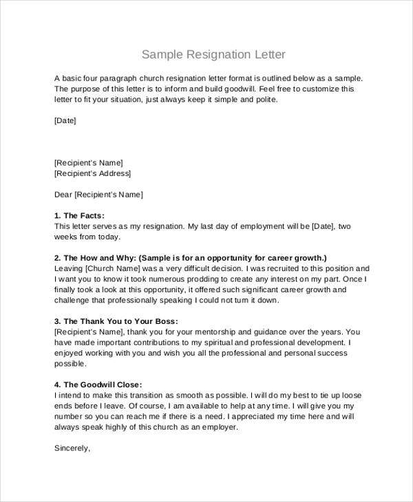 49+ Resignation Letter Examples - example of resignation letters