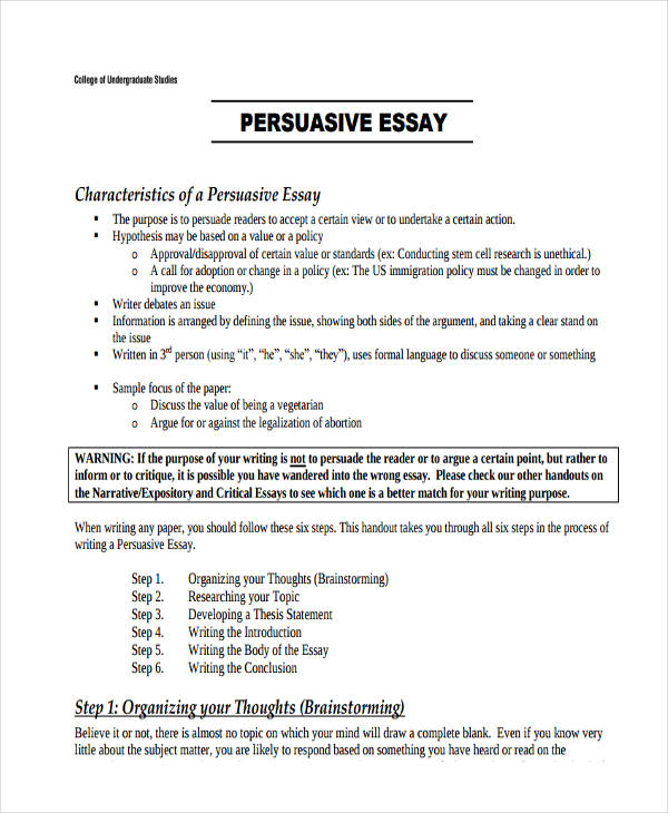 persuasive essay example for college - Ozilalmanoof