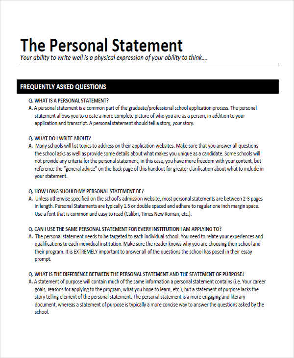 ideas for writing a personal statement for college Writing a great personal statement when applying to college or to a graduate program, you may be asked to write a personal statement before you begin, the very first thing you need to realize is that the personal statement is the most important part of your admissions package.