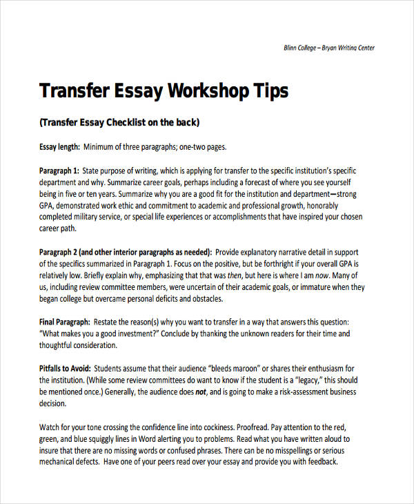 on writing the college application essay pdf