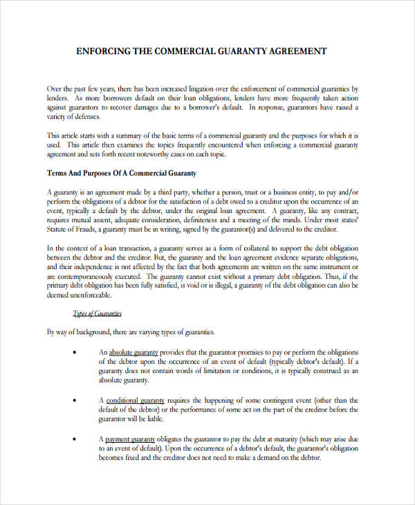 43+ Commercial Agreement Examples and Samples