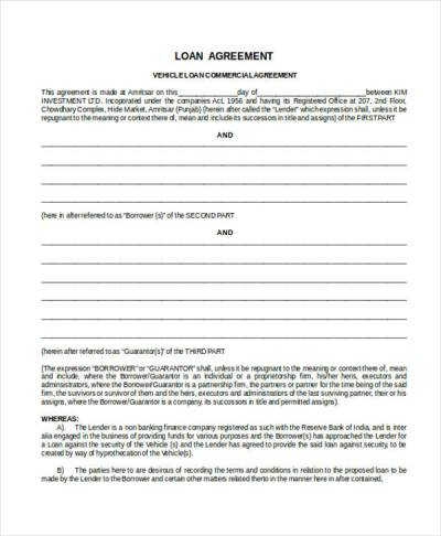 43+ Commercial Agreement Examples & Samples - PDF, Word, Pages   Examples