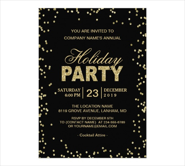 20+ Holiday Invitation Designs  Examples - PSD, AI, EPS Vector