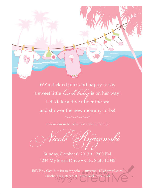 43+ Baby Shower Invitation Examples