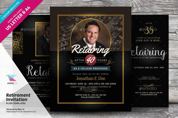 62+ Party Flyer Designs \ Examples - PSD, AI, EPS Vector - retirement party flyer template