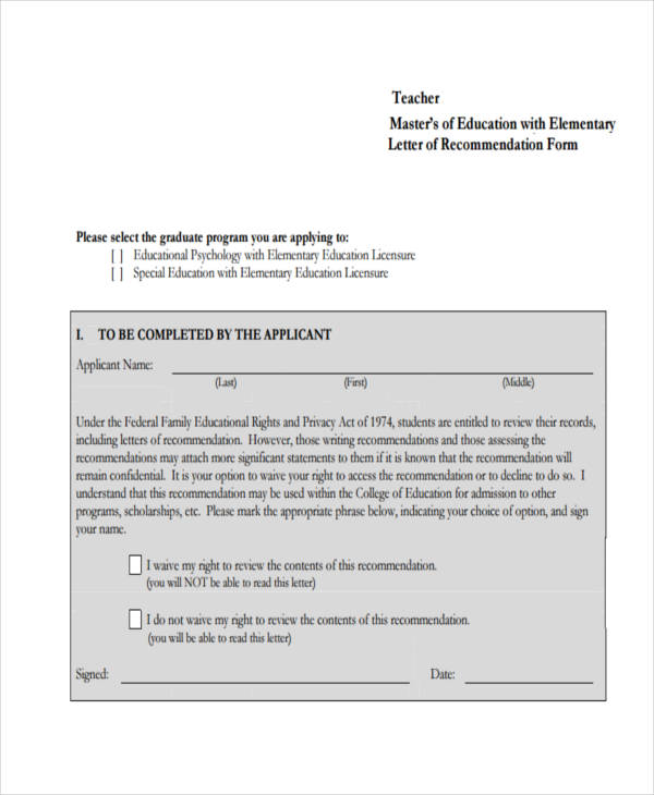 79+ Examples of Recommendation Letters - how to write a recommendation letter for a teacher from a