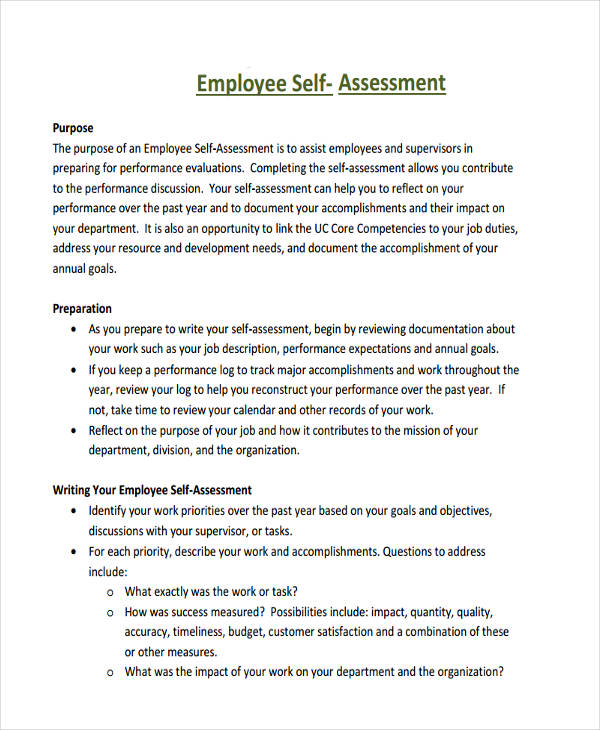 self performance appraisal samples - Onwebioinnovate - Self Evaluation Examples For Performance Review