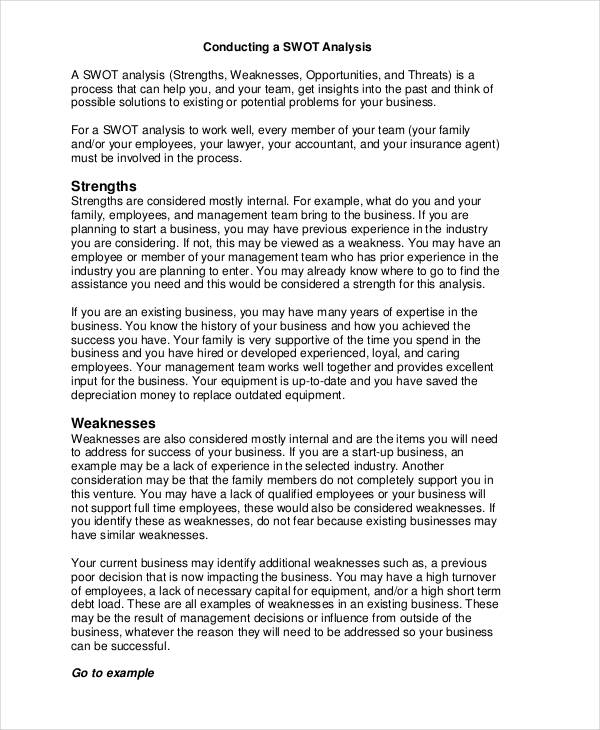 33+ SWOT Analysis Examples  Samples