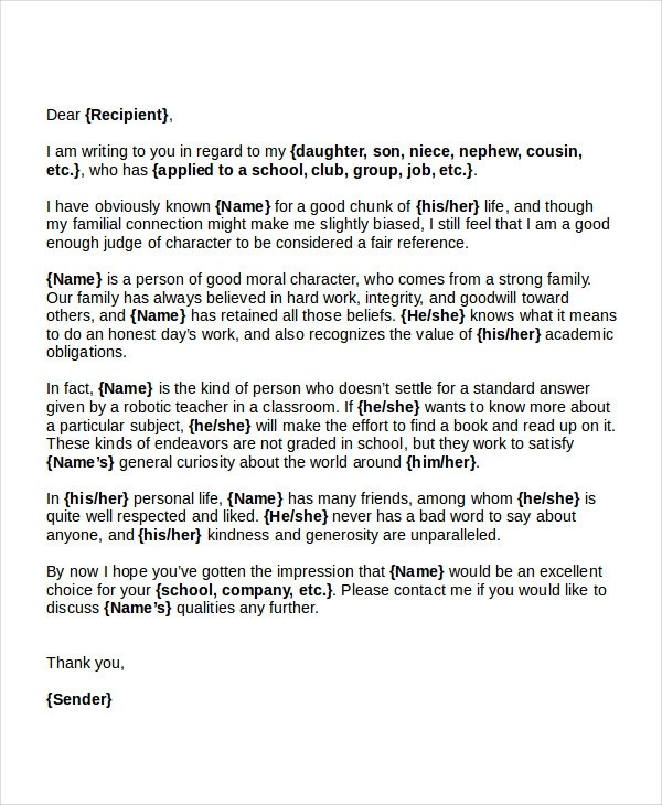 17+ Business Reference Letter Examples - PDF, DOC - standard reference letter