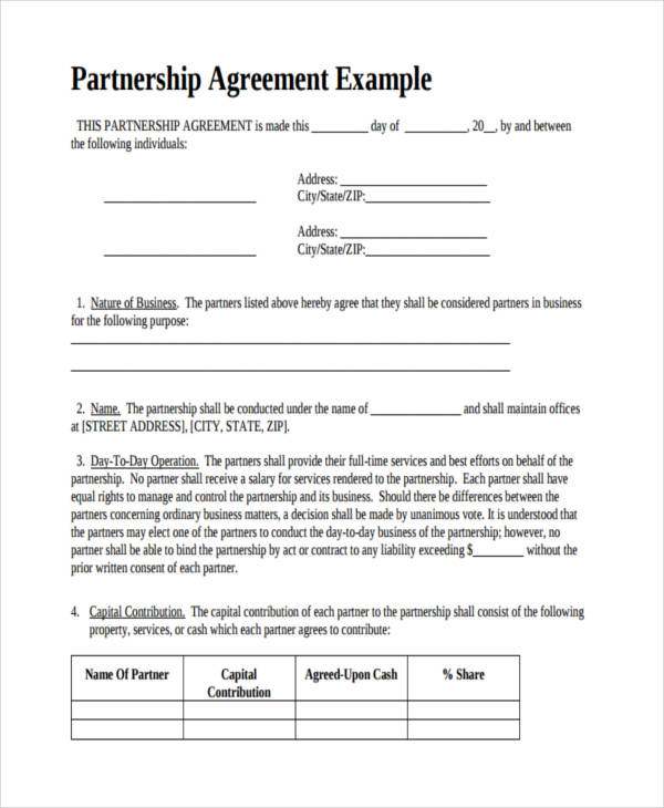 partnership business contract - Ozilalmanoof