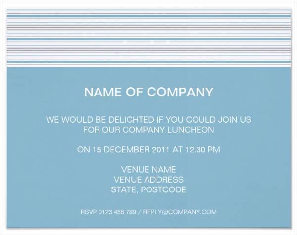 team lunch invitation wording