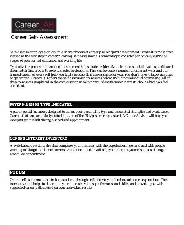 17+ Career Assessments Examples  Samples - career strengths examples