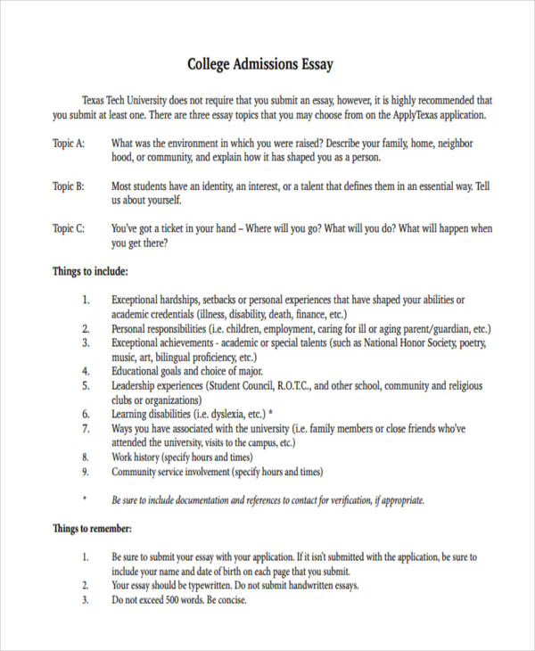 sample college admissions essay college application essays that work