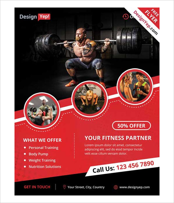 26+ Examples of Fitness Flyer Designs - PSD, AI, Vector EPS - examples of a flyer