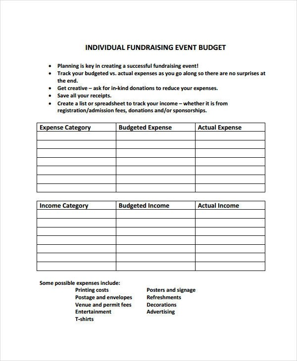 10+ Event Budget Examples  Samples Examples