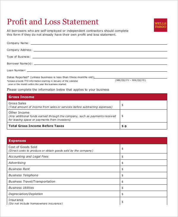 25+ Examples of Profit and Loss Statements - profit and lost statement